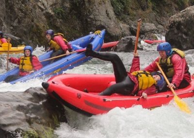 inflatable kayaking on the grade 5 section of the rangitikei river