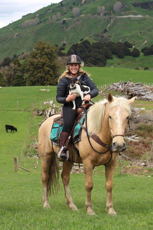 horse trekking guide autumn