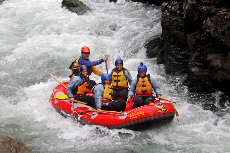 brian rafting on the grade 5 section of the rangitikei river