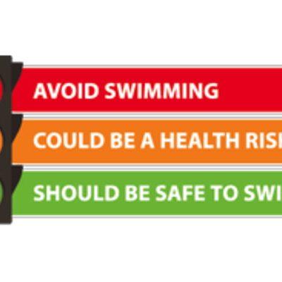 safe to swim sign