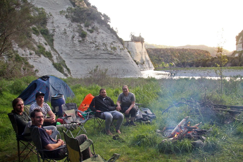 christmas camp on a multiday rafting trip