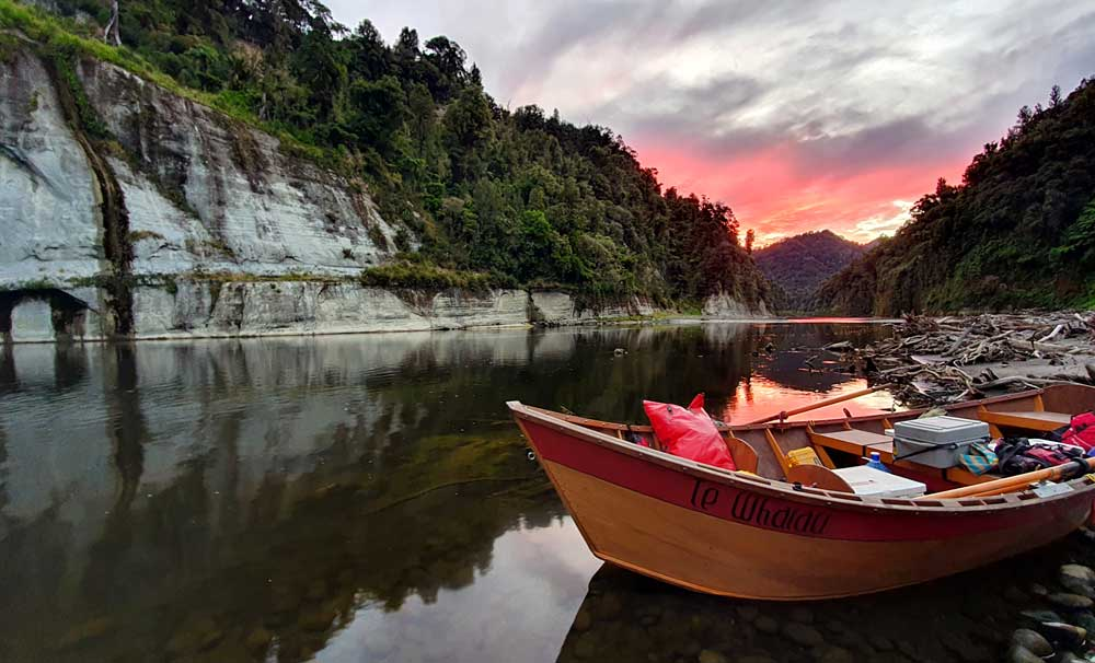 A Day on the Whanganui River in a Dory